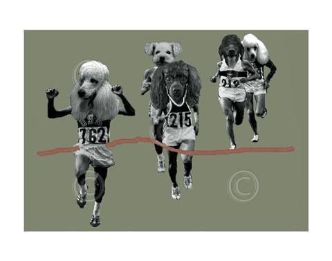 Framed Finish Line Print