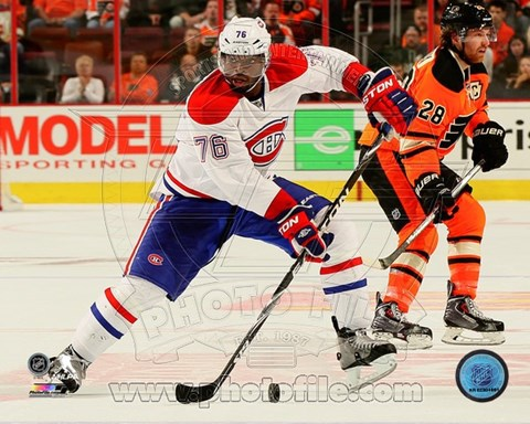 Framed P.K. Subban on the ice 2014-15 Print