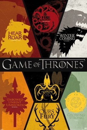 Framed Game of Thrones - Siglis Print