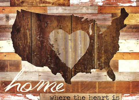 Framed Home - Where the Heart is I Print