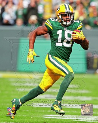 Framed Randall Cobb Running Football Print