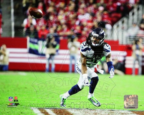 Framed Richard Sherman on the field 2014 Print