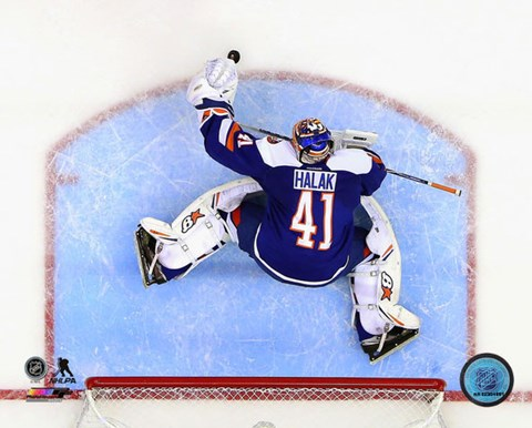 Framed Jaroslav Halak 2014-15 Action Print