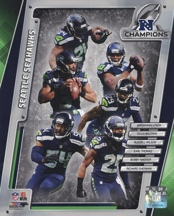 Framed Seattle Seahawks 2014 NFC Champions Team Composite Print