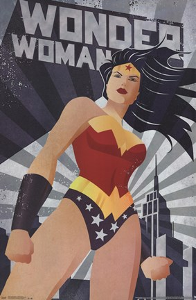 Framed Wonder Woman - Constructivism Print