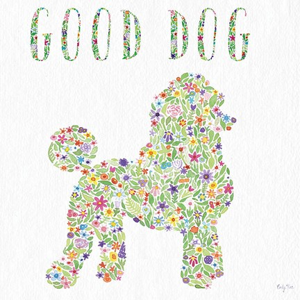 Framed Poodle - Good Dog Print