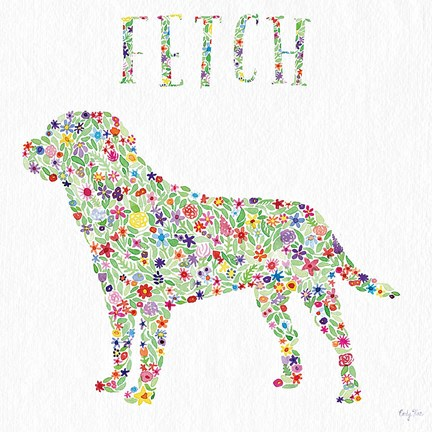 Framed Labrador - Go Fetch Print