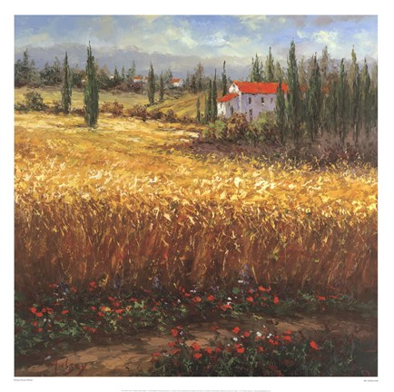 Framed Tuscan Wheat Print