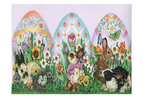 Framed Easter Bunny Print