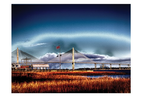Framed Arthur Ravenel Bridge 2 Print