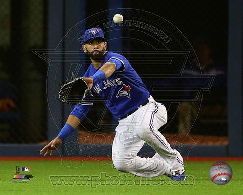 Framed Jose Bautista 2015 Action Print