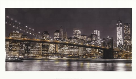 Framed New York Lights Print