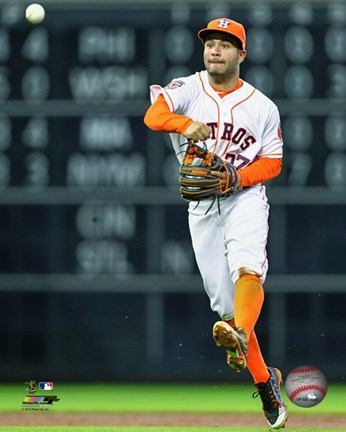 Framed Jose Altuve 2015 Action Print