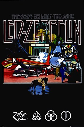 Framed Led Zeppelin - Remains Print