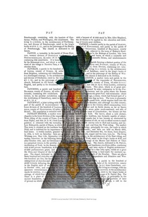 Framed Goose in Green Hat Print