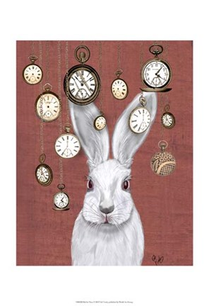 Framed Rabbit Time Print