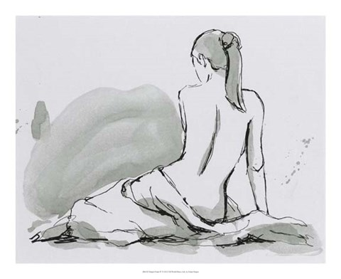 Framed Draped Nude IV Print