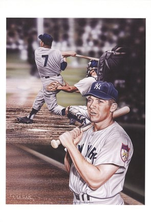 Framed Mickey Mantle The Mick. Print
