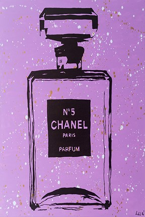 Framed Purple Chanel No5 Pop Art Print