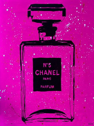 Framed Chanel Pop Art Pink Chic Print