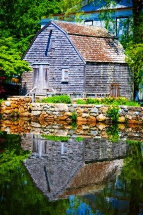 Framed Old Grist Mill Portrait Print