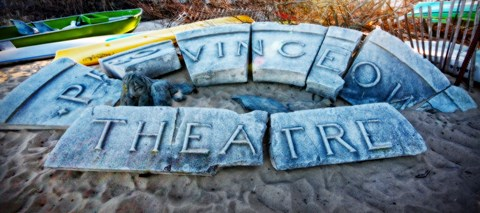 Framed Provincetown Theater Sign Ruins Print