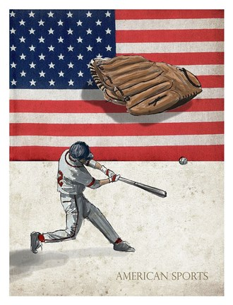 Framed American Sports: Baseball 1 Print