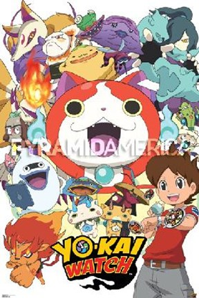 Framed Yo-kai Watch - Cast Print