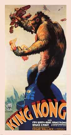 Framed King Kong, c.1933 Print