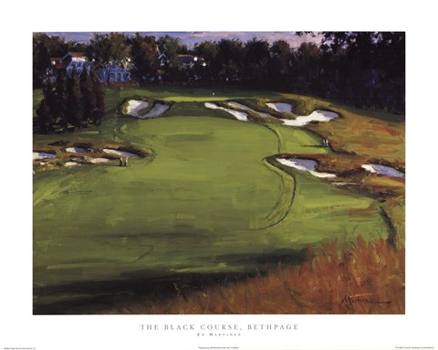 Framed Black Course, Bethpage Print