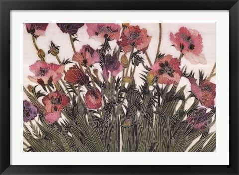 Framed Spring Poppies IV Print