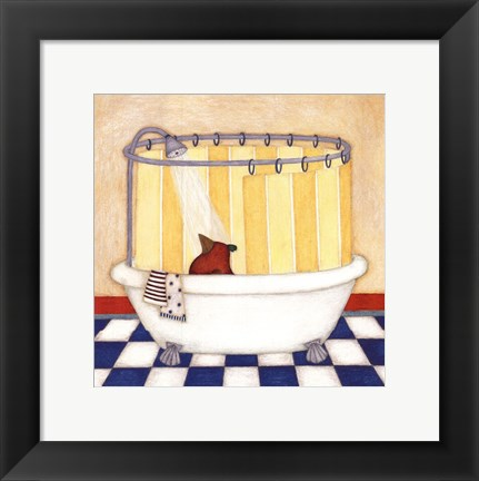 Framed Shower Time Print