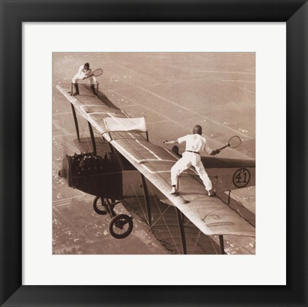 Framed Tennis on the Wing Print