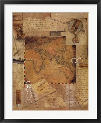 Framed Destinations II Print