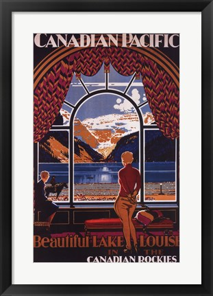 Framed Canadian Pacific-Lake Louise window Print