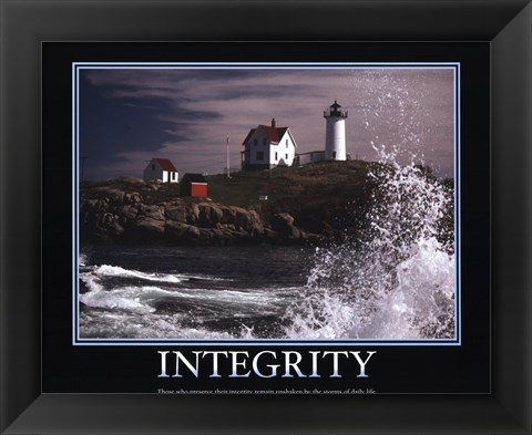 Framed Motivational - Integrity Print