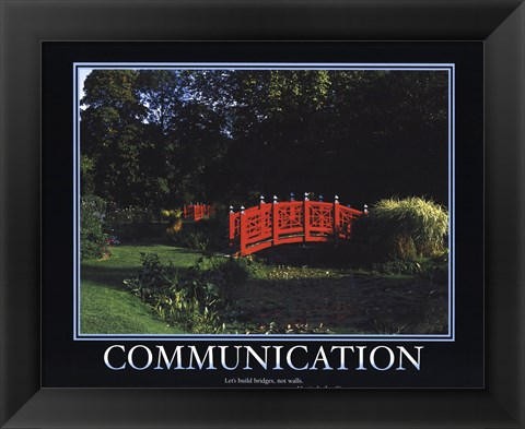 Framed Motivational - Communication Print
