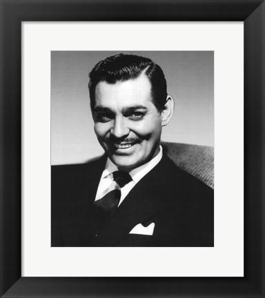 Framed Clark Gable Print