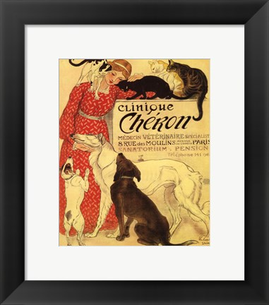 Framed Clinique Cheron Print