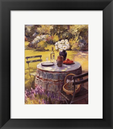 Framed Lunch and Daisies Print