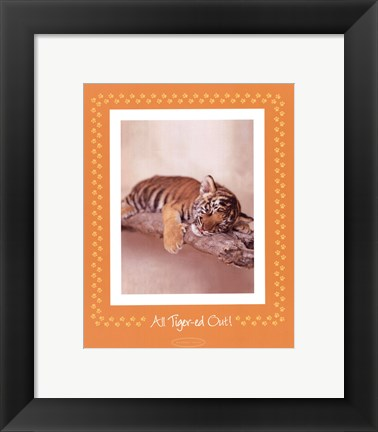 Framed All Tiger-Ed Out Print
