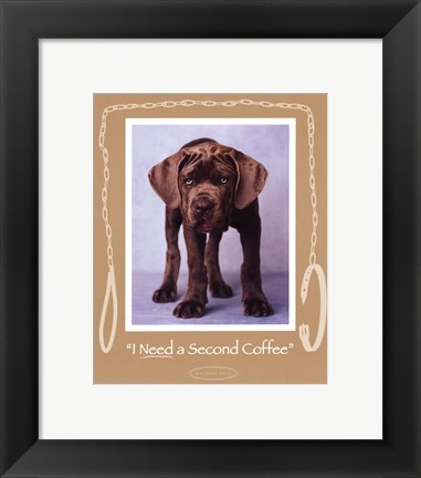 Framed Second Coffee Print