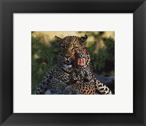 Framed Imaginary Safari Leopar Print