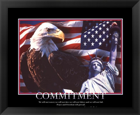 Framed Patriotic-Commitment Print