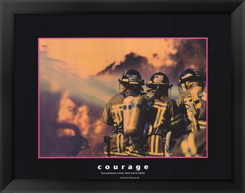 Framed Courage Print