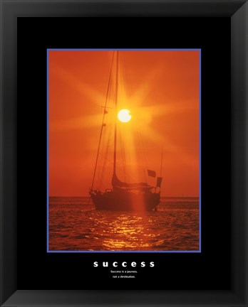 Framed Success - orange sunset Print