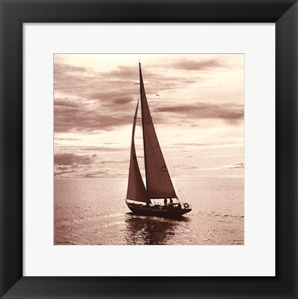 Framed Sailing V Print