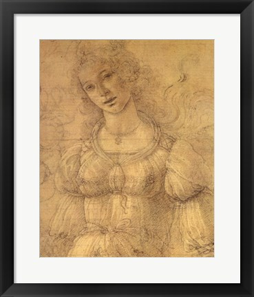 Framed Drawing of a Woman Print