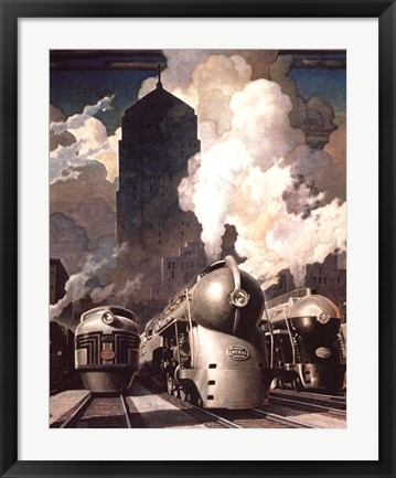 Framed New York Central System Print