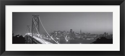 Framed San Francisco Bandw Print